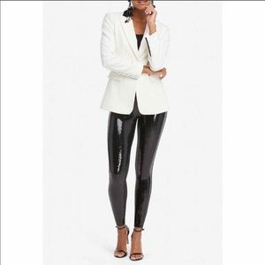 SPANX Limited Edition Sequin Faux Leather Leggings
